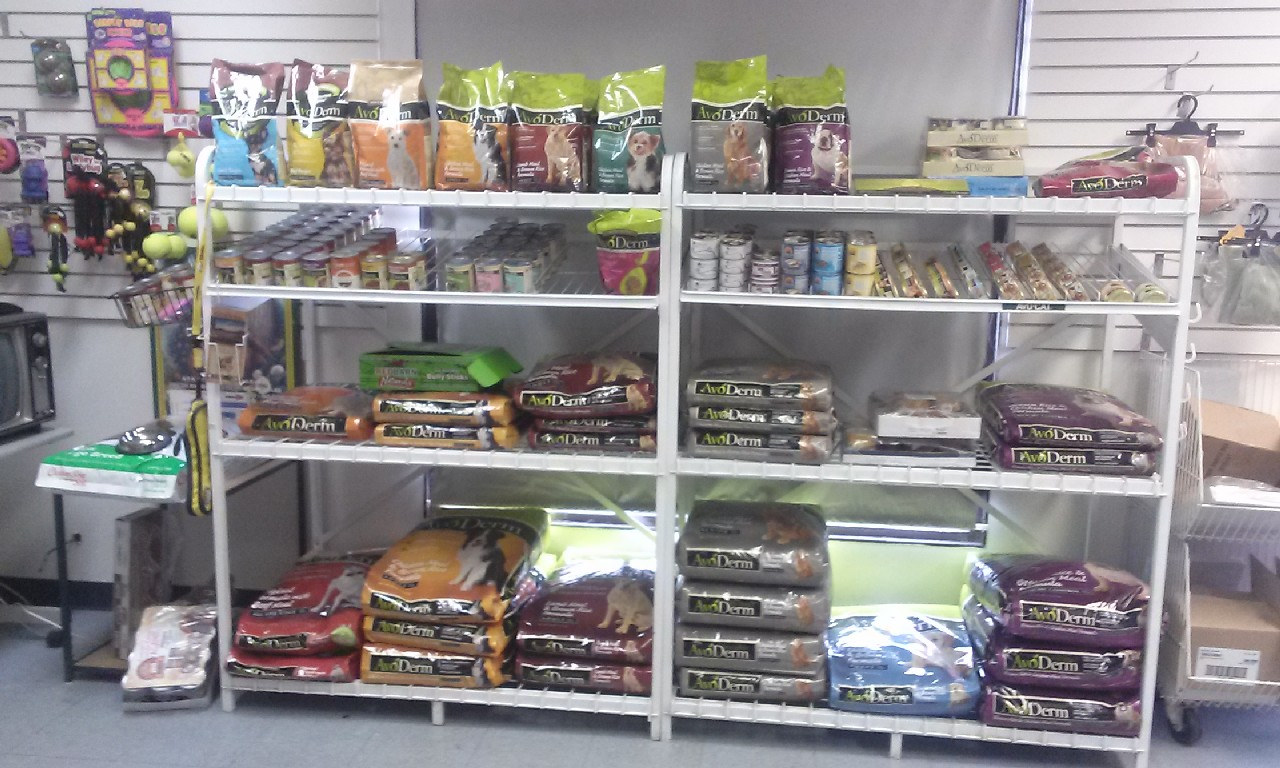 Inside my pet grooming shop, pet food 4